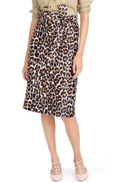 J Crew Leopard Skirt