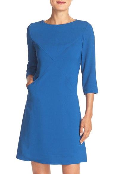 Eliza J Crisscross A-line dress