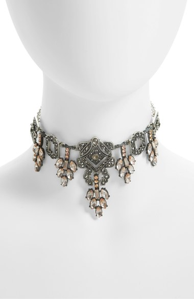 Topshop Crystal Statement Choker