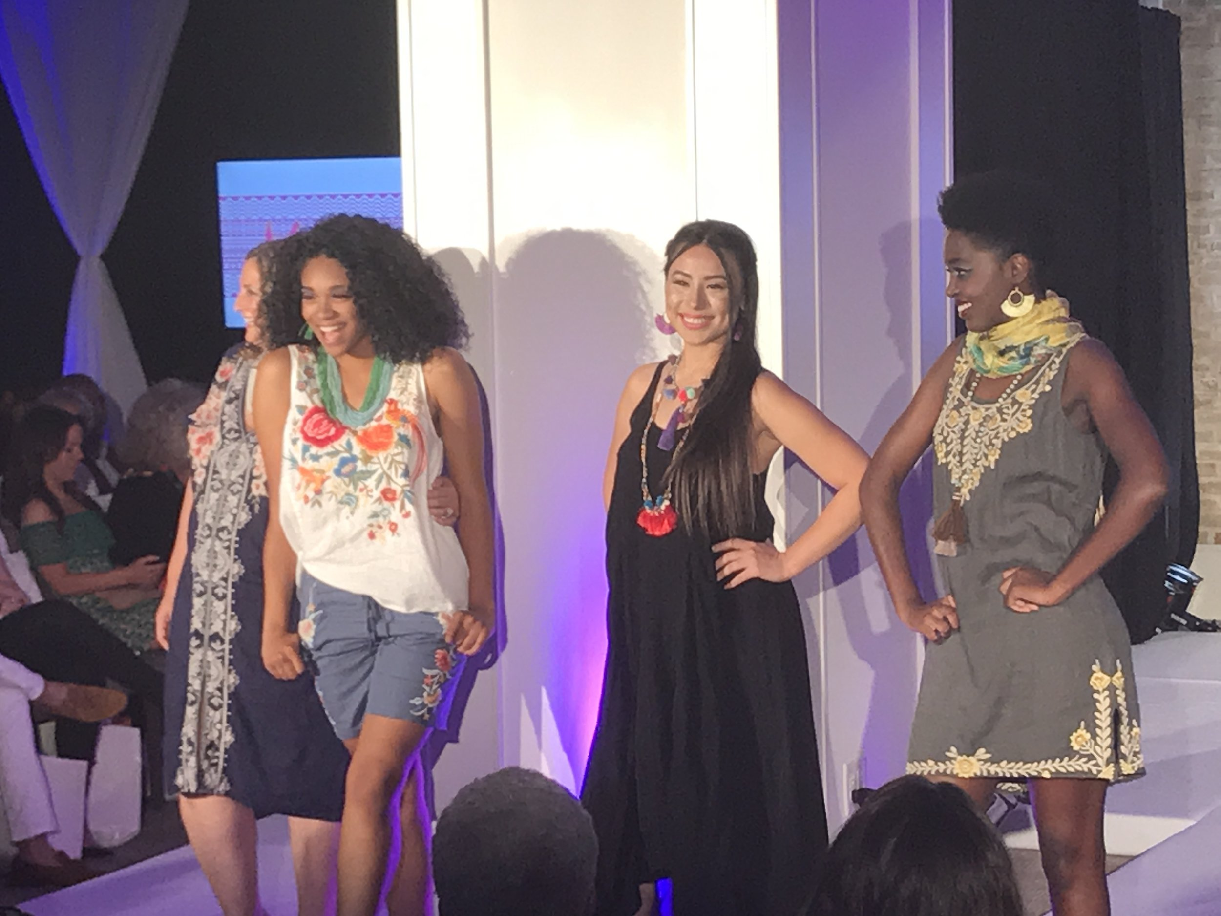 My favorite collection from the event; the pieces featured are from Adelante Boutique.