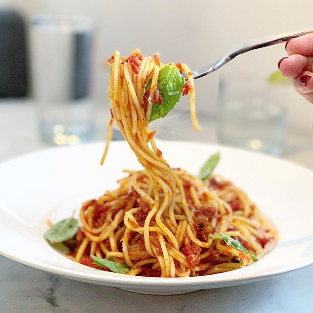 Staying in town this July 4th? Treat yourself with a pasta lunch 👌🏻 #spaghettidiavola