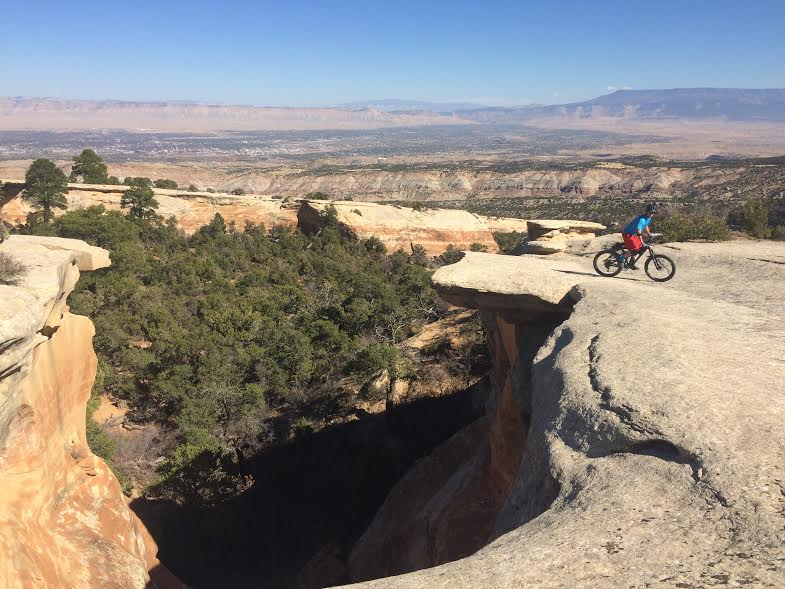 It's a real shame Jeff was a bit slow hitting the shutter on his iphone camera, missing me in flight and only getting the landing of this 35 foot canyon gap.