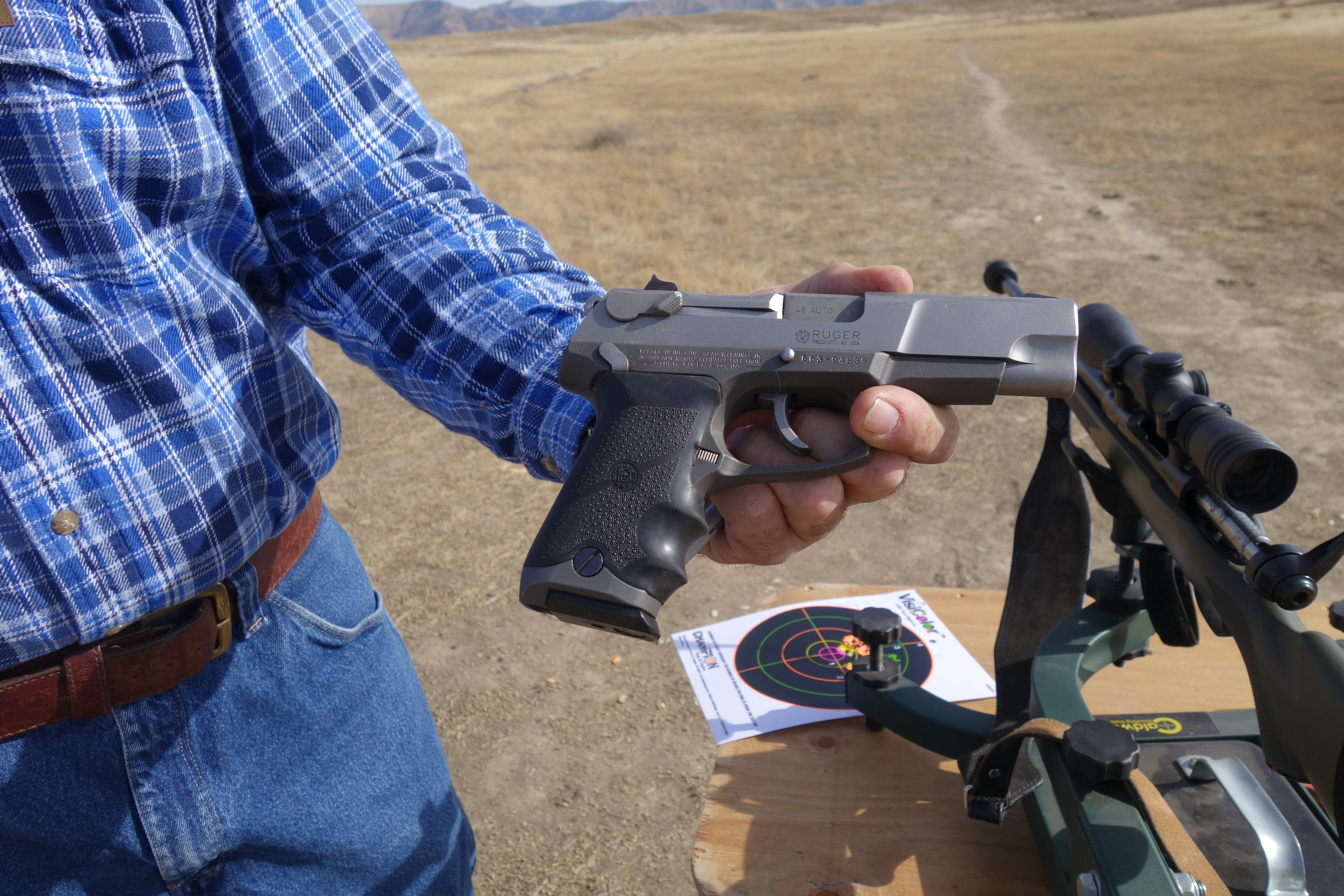 I made a new friend at the trails. What's the 9mm automatic handgun for Cletus, I asked him. To shoot any F****** who tries to steal my rifle. Voting for Trump? I asked.You betcha! He replied.