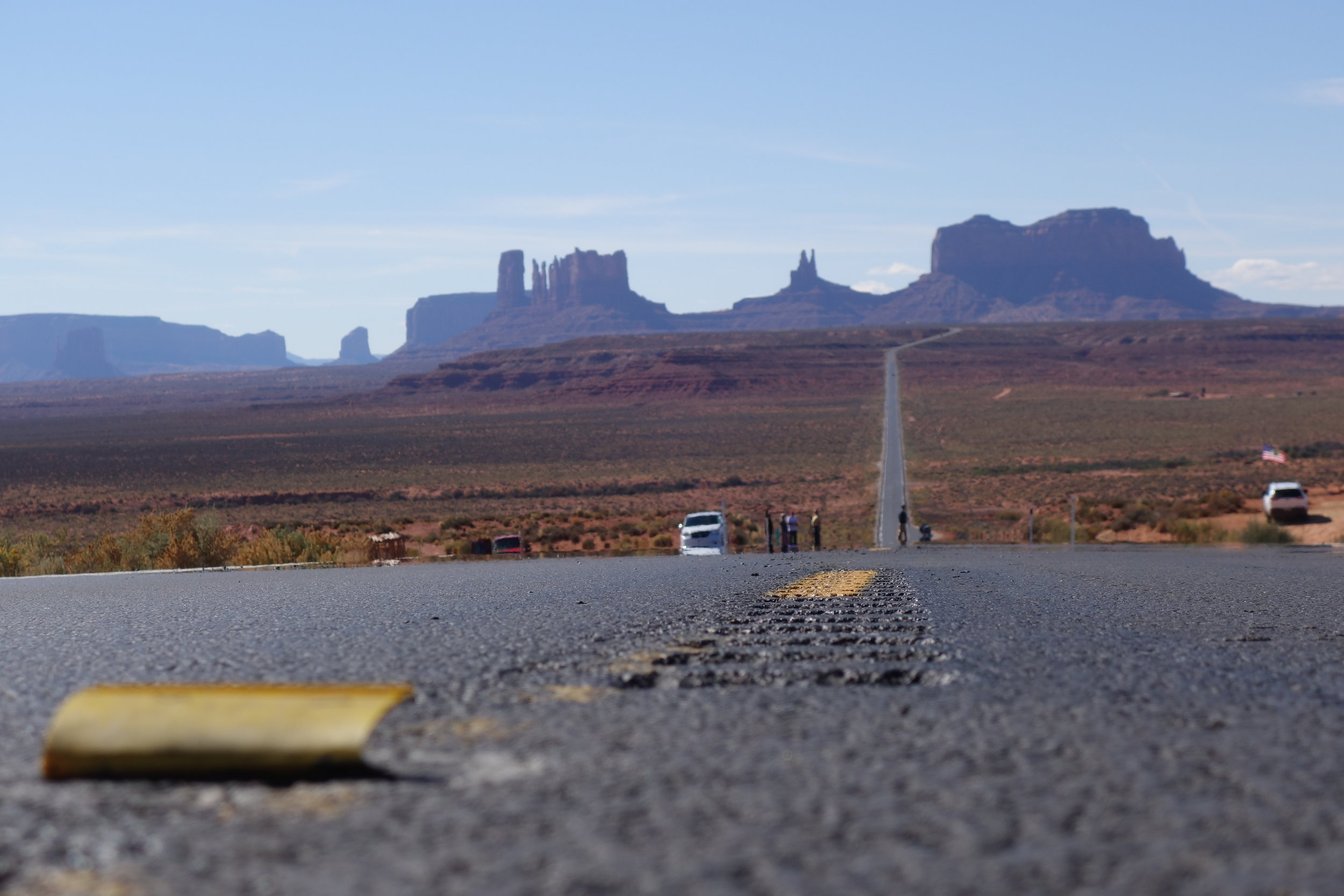 One of the most famous silhouettes in the world. Monument Valley.