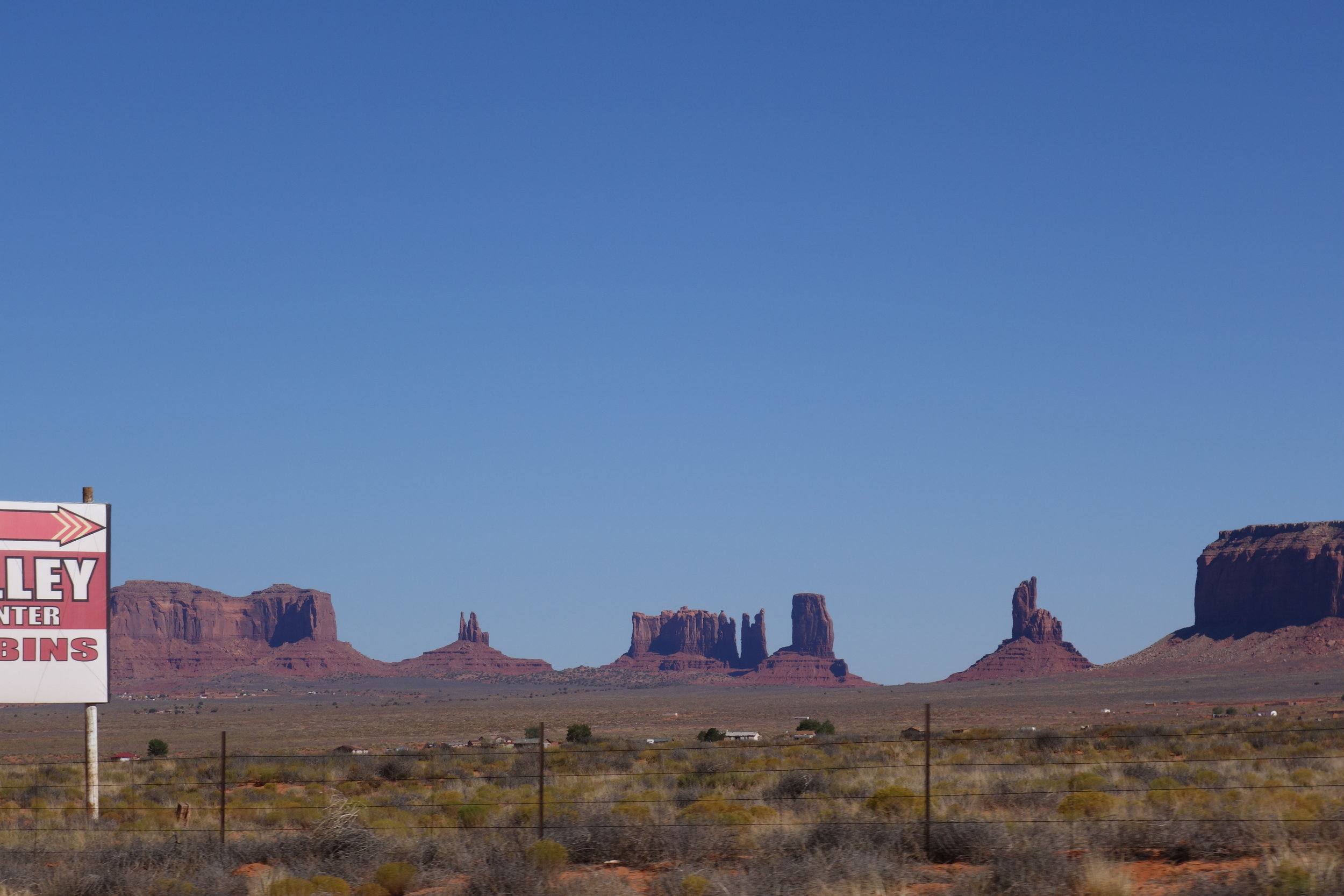The backside of Monument Valley. I like a bit of industrial with my landscape.