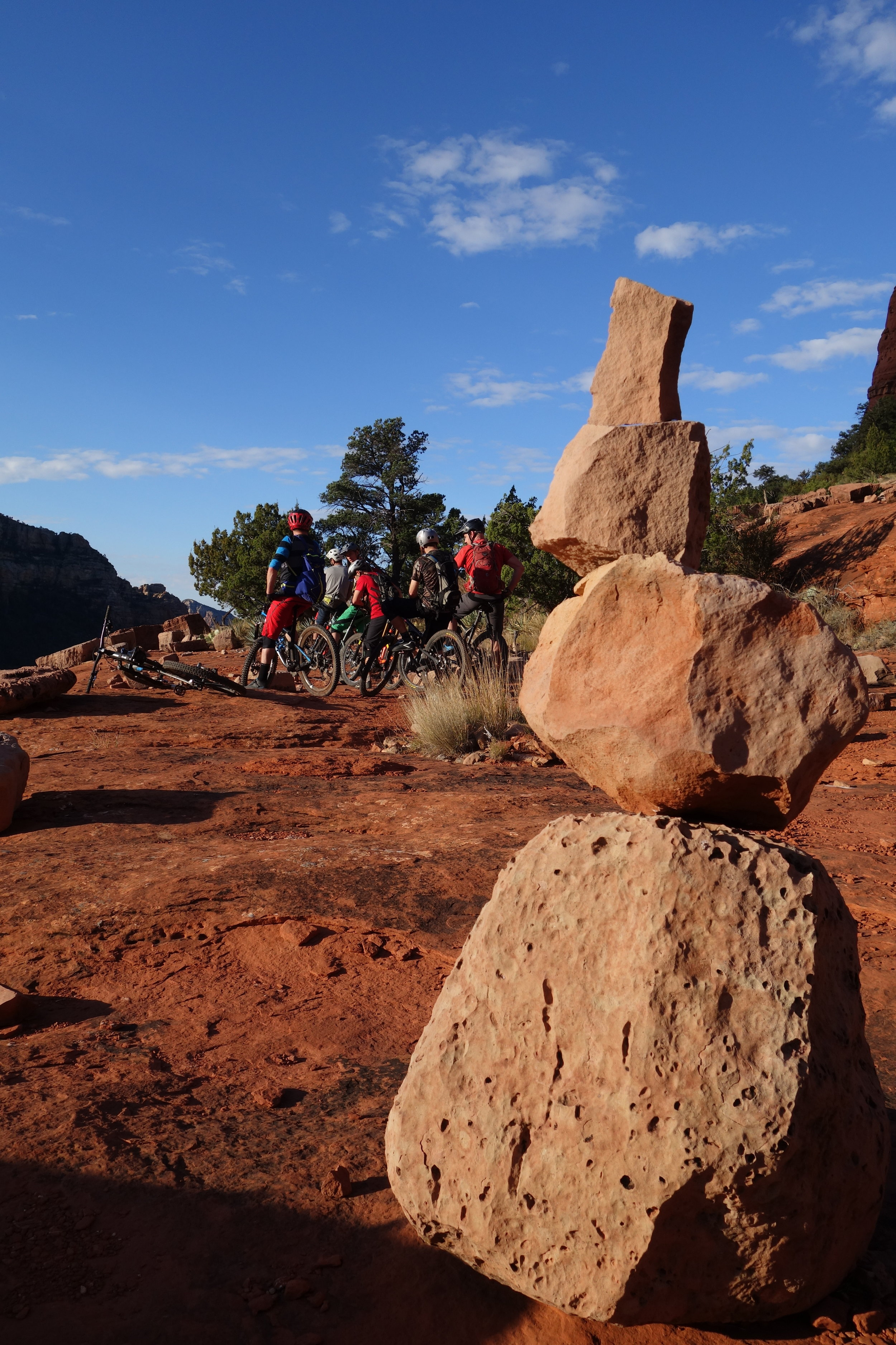 Many rests make light work of the tough, technical but seriously fun Hangover trail.