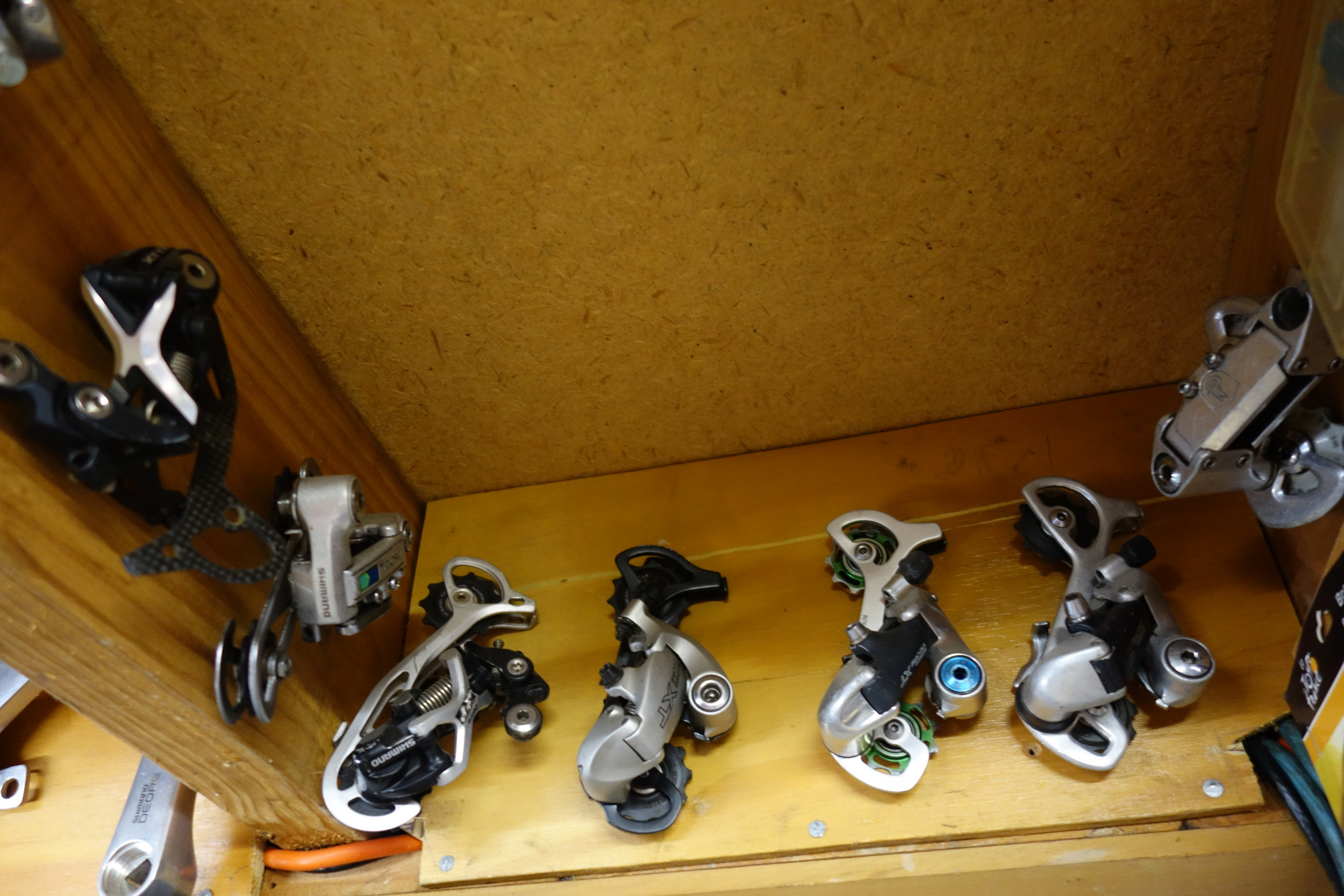 There's nothing quite like a good derailleur collection