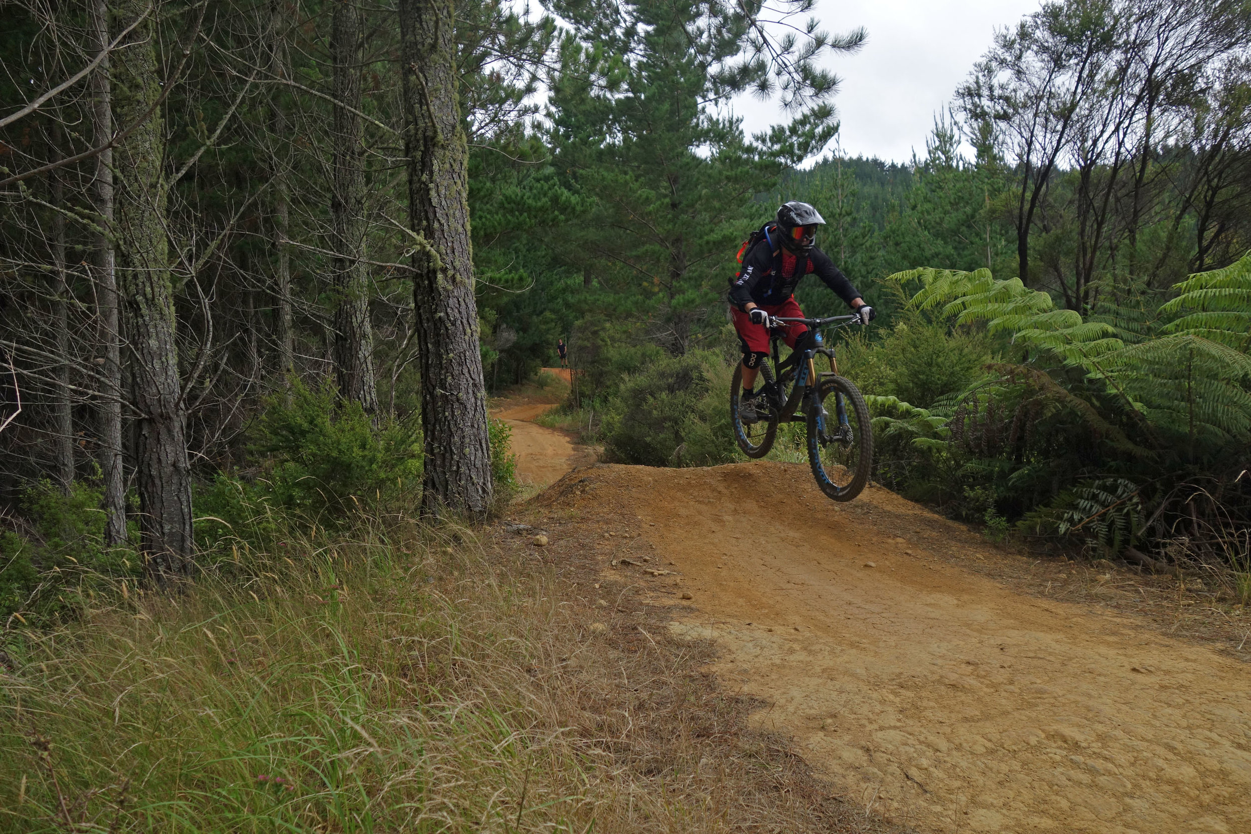 Mike was getting faster and going bigger with each run on his first day ever on his brand new Pivot Firebird.