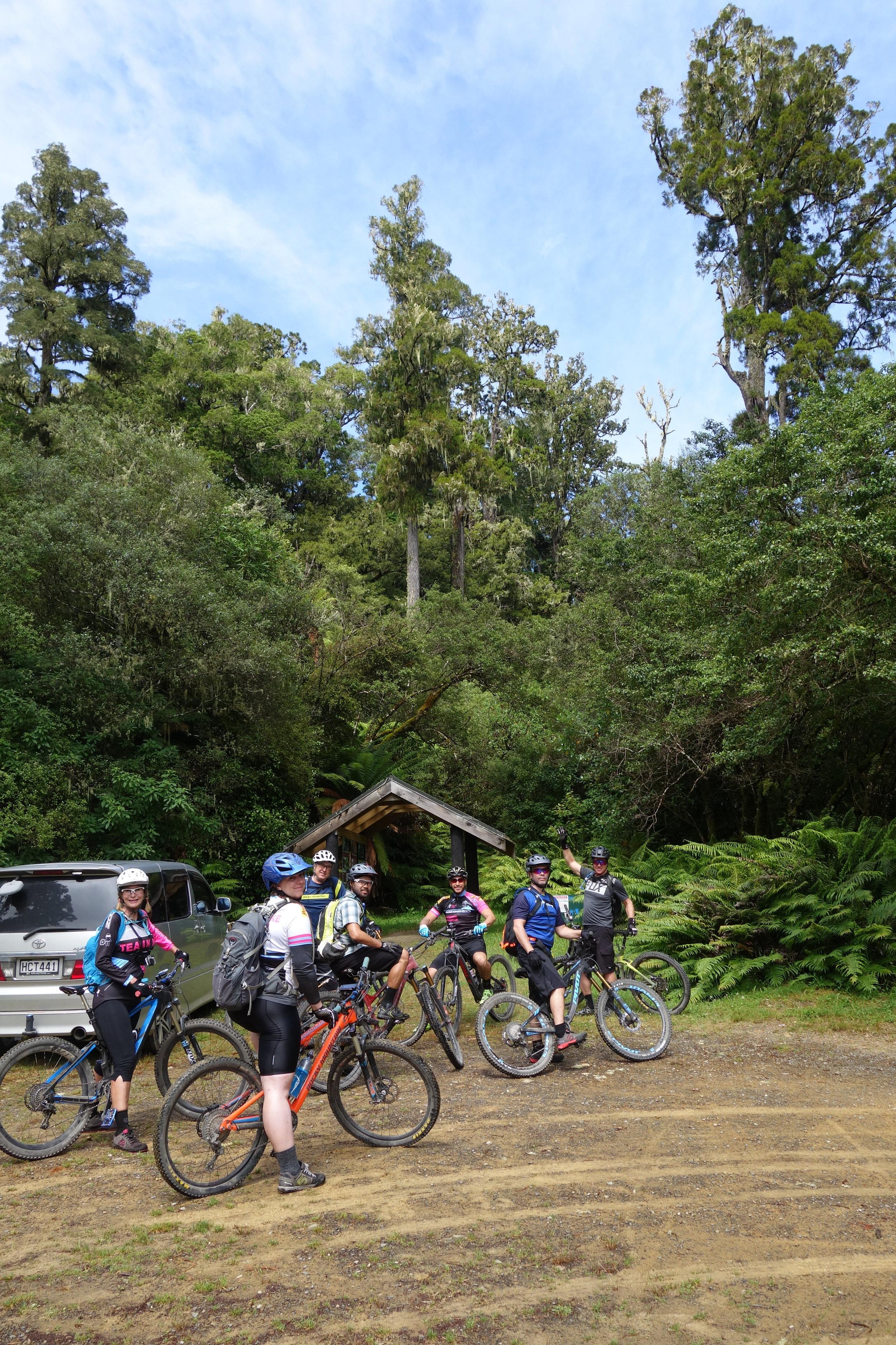 Team Ninja at the trail head