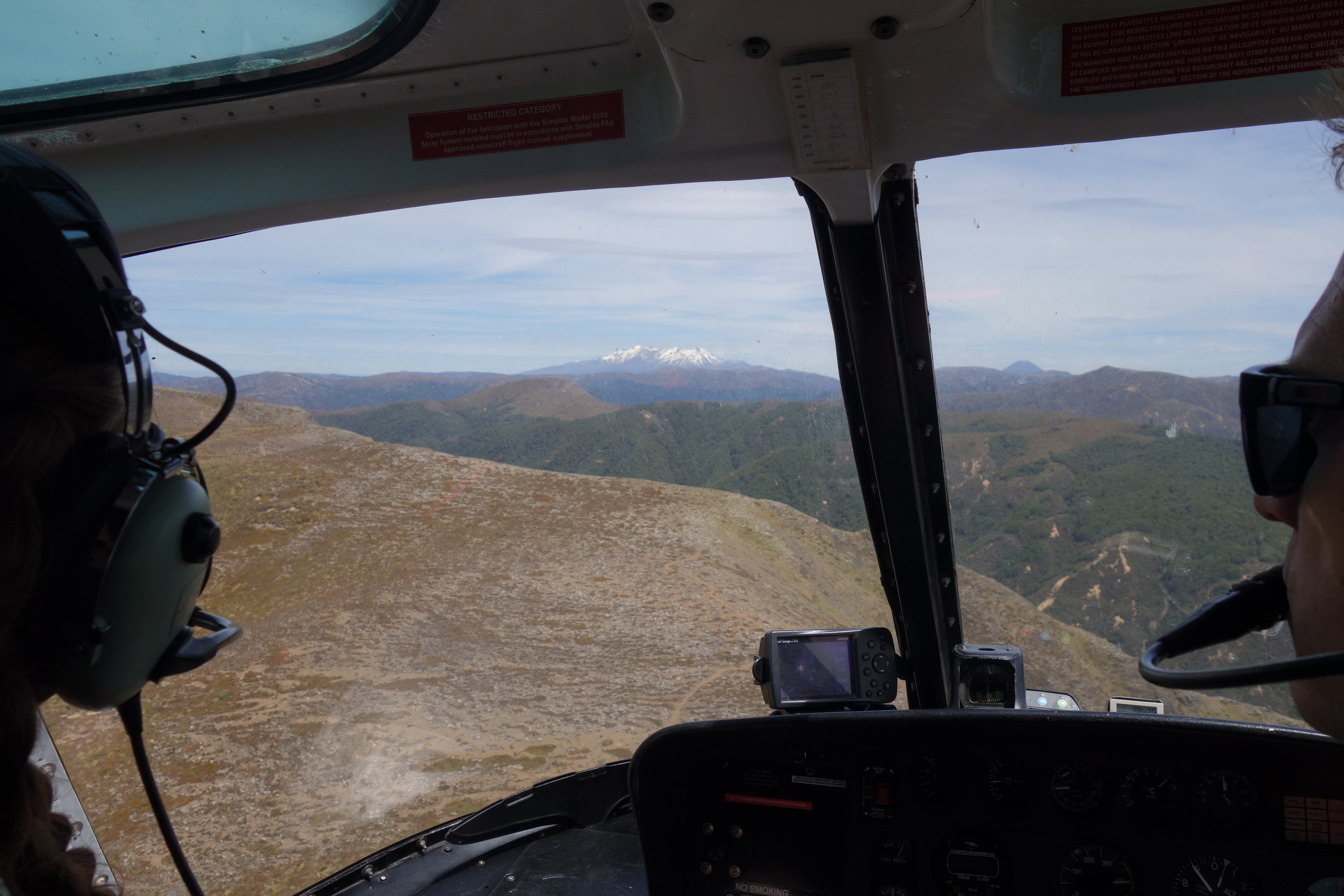 Coming in hot with Mt. Ruapehu in the distance
