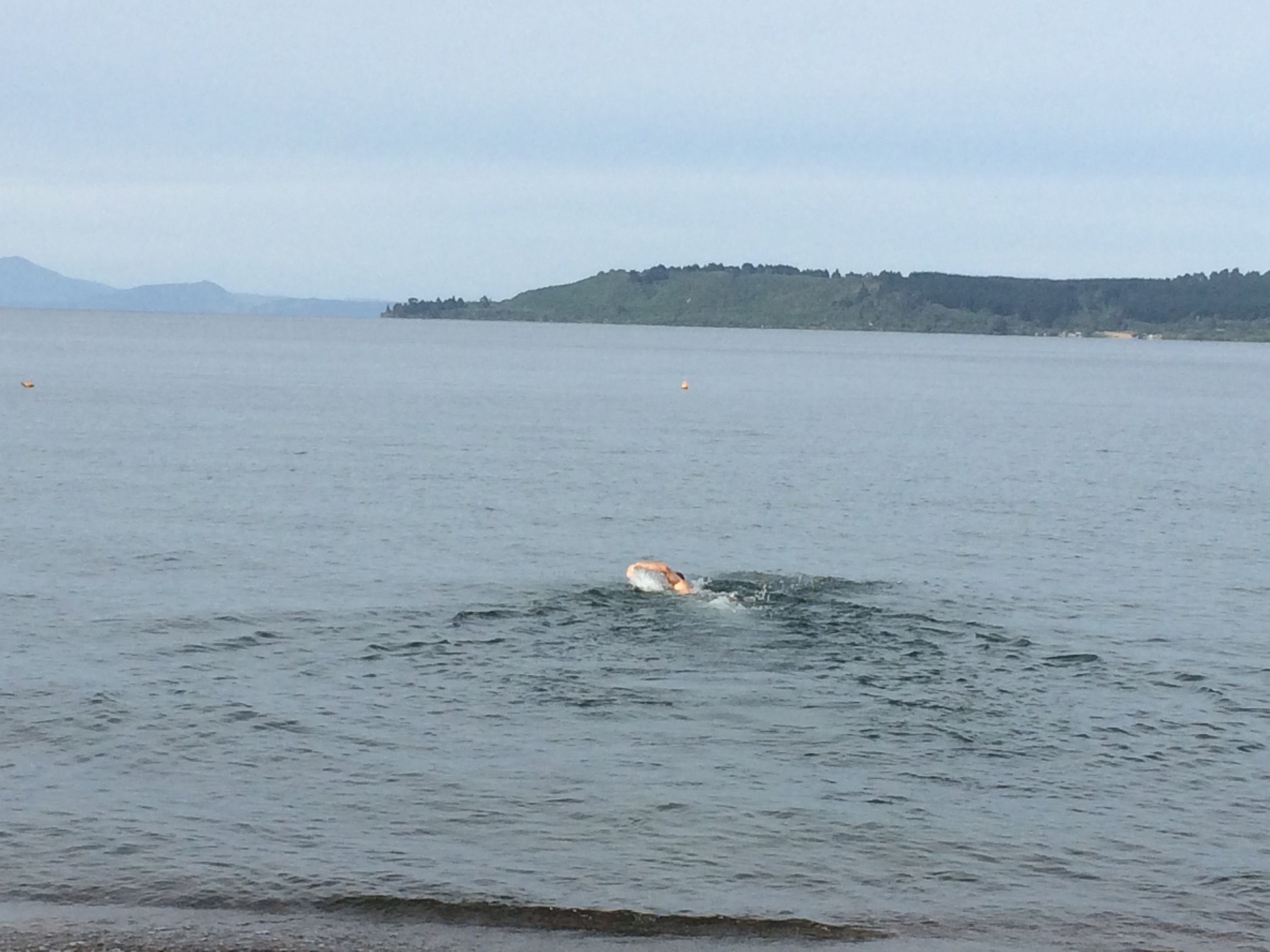 Me doing my Michael Phelps impersonation. I'm too shy to show you my Daniel Craig coming back in (no...really)