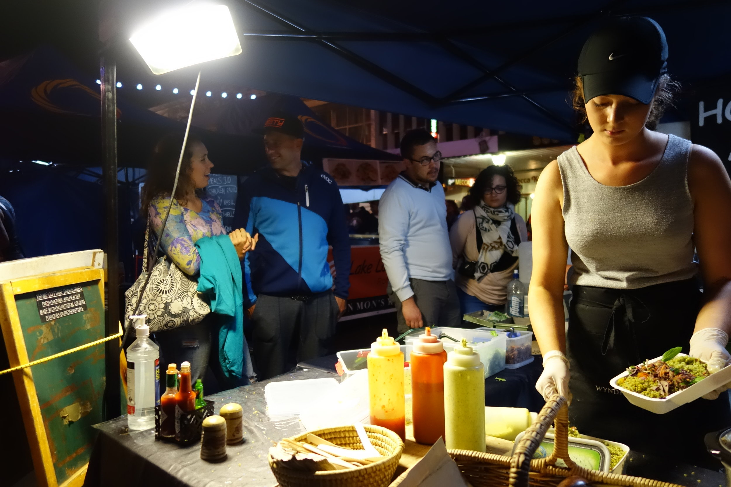 Jeff, Emma and I hit the night markets for dinner before the Deep Summer photo competition.
