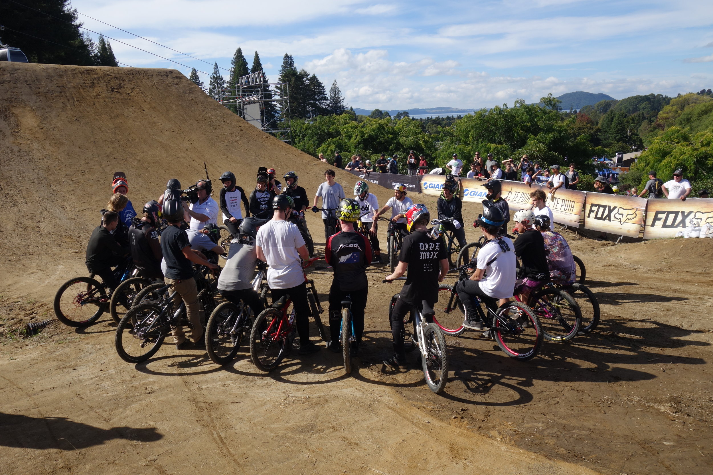 """""""You guys don't have to ride the course until that puddle in between jump four and five is removed"""" Even slopestyle riders have union meetings."""