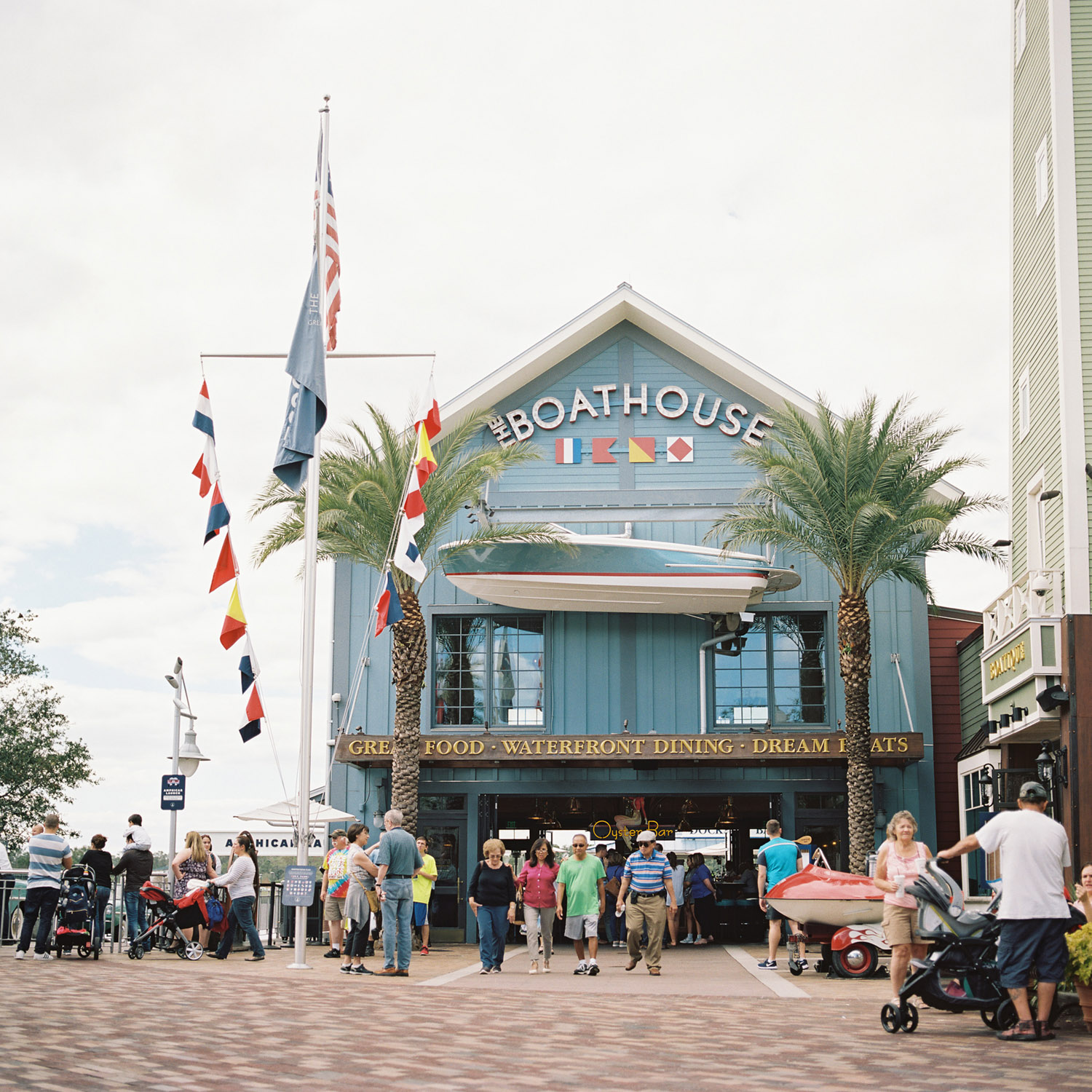 The Boathouse at Disney Springs - the 6x6 format really covers the whole scene