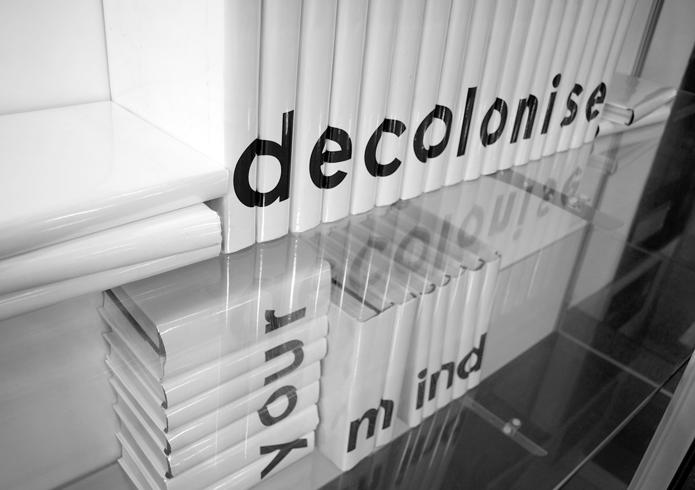 'Decolonise Your Mind' (installation view Frankston Library) Copyright  Torika Bolatagici, 2009.