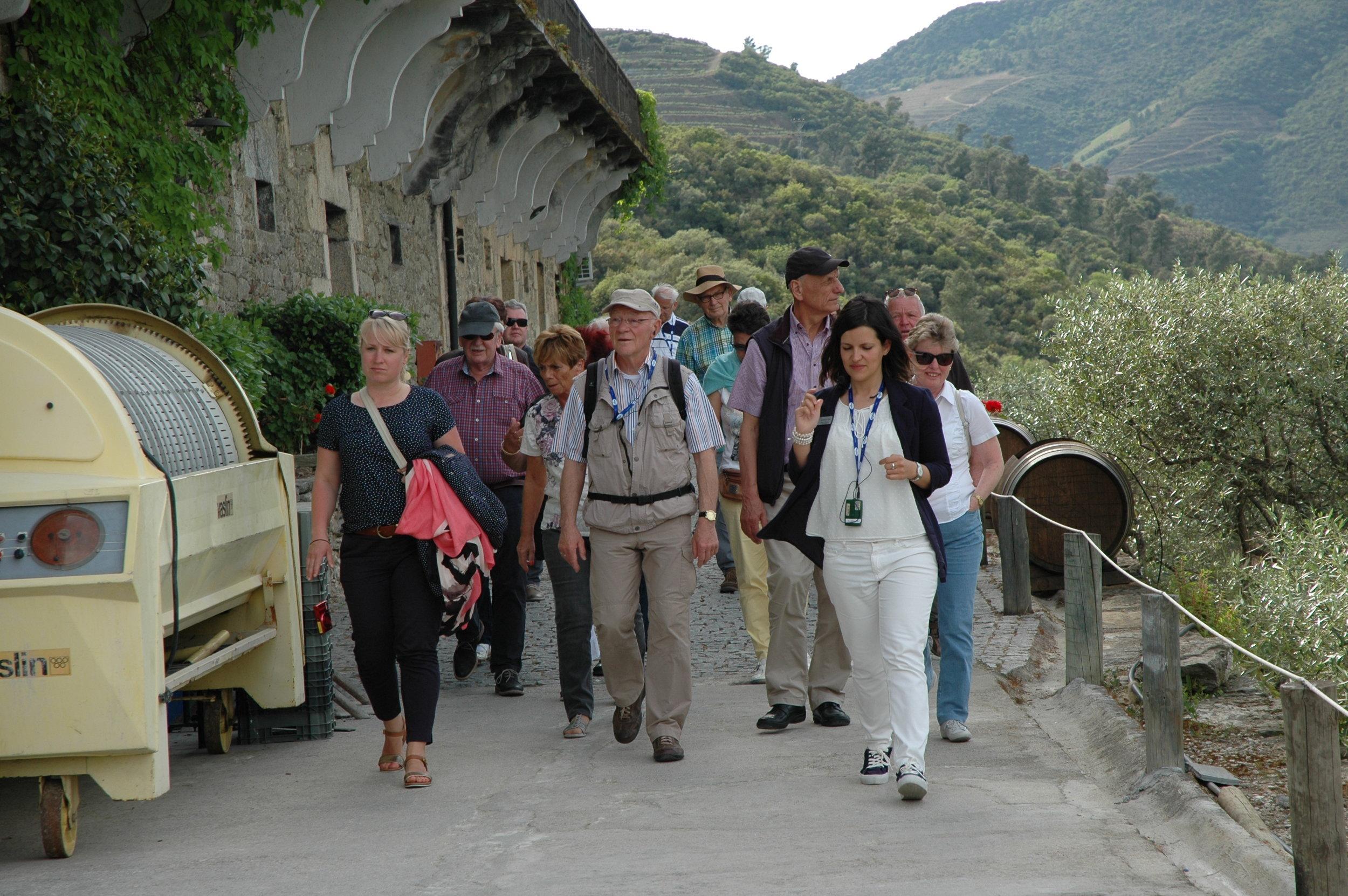 Tour guide Joana accompanies CroisiEurope tourists.