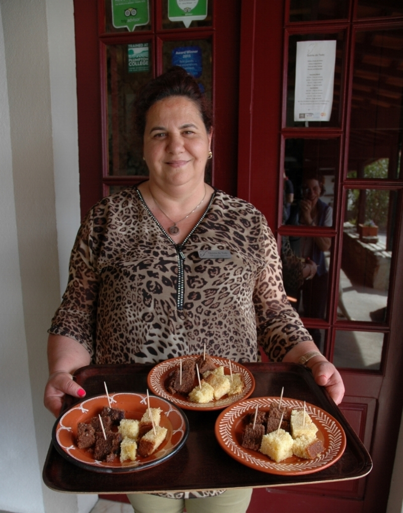 Adelaide's cakes are a perfect pairing for the Porto tasted!