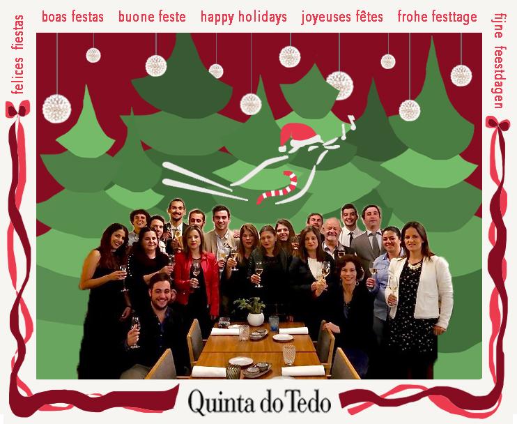 Nous vous souhaitons des fêtes pleines de joie, de paix, d'amour et .... d'un verre de Quinta do Tedo!