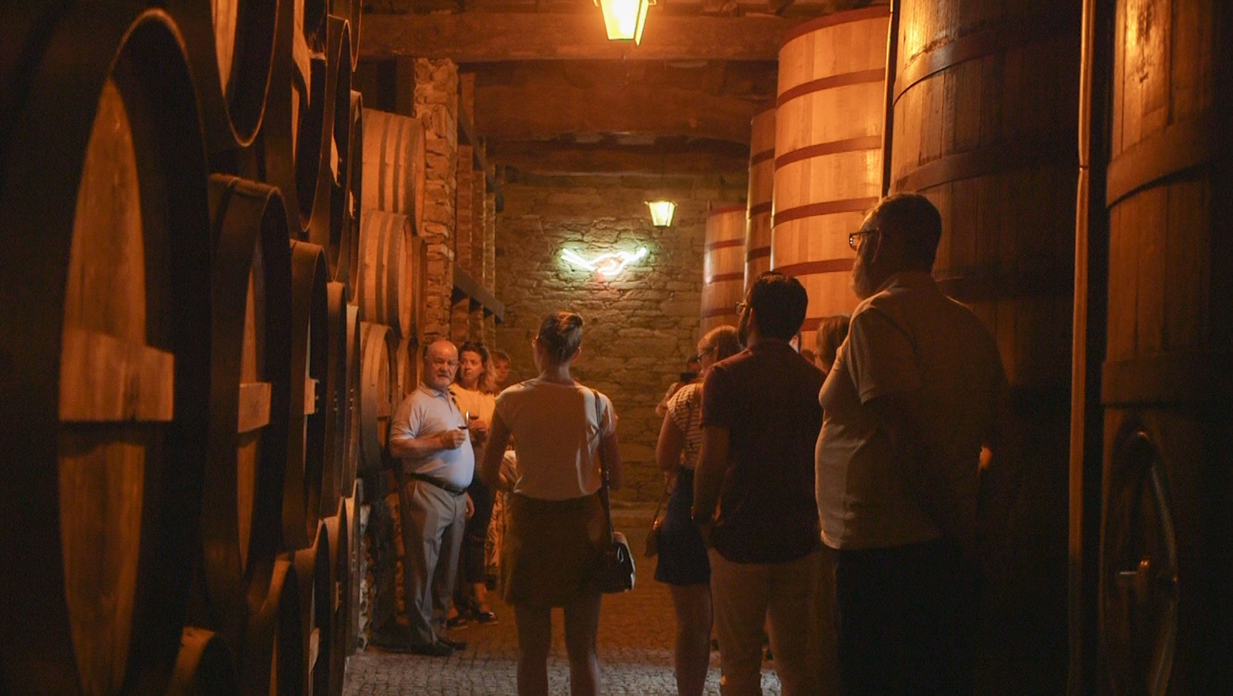 After hours tour of our aging cellars led by Vincent, for those who came to our music and dinner event.