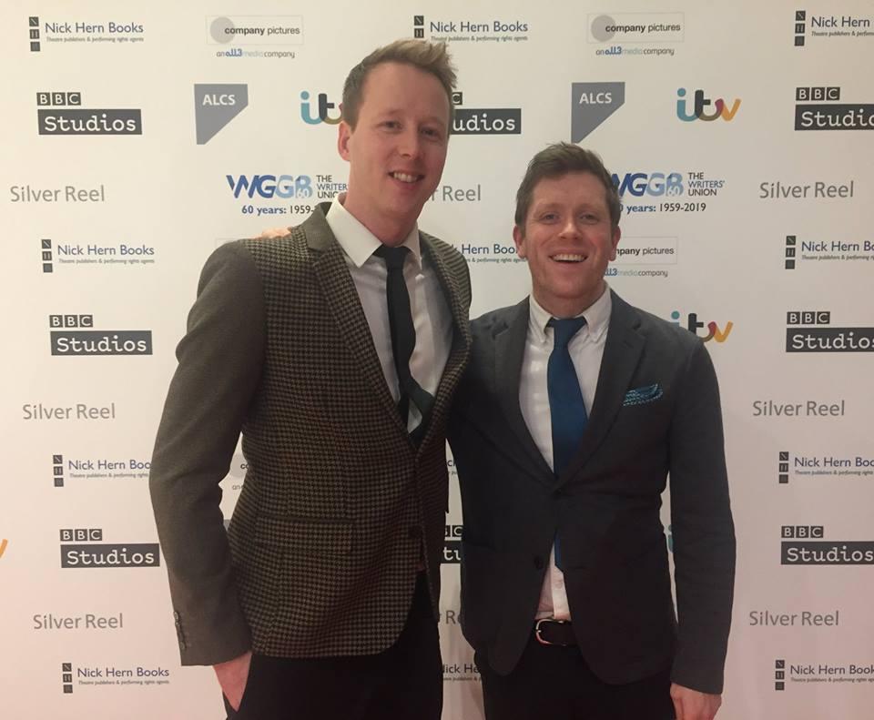Tim Grewcock and Shaun Lowthian - Writers' Guild Awards 2019