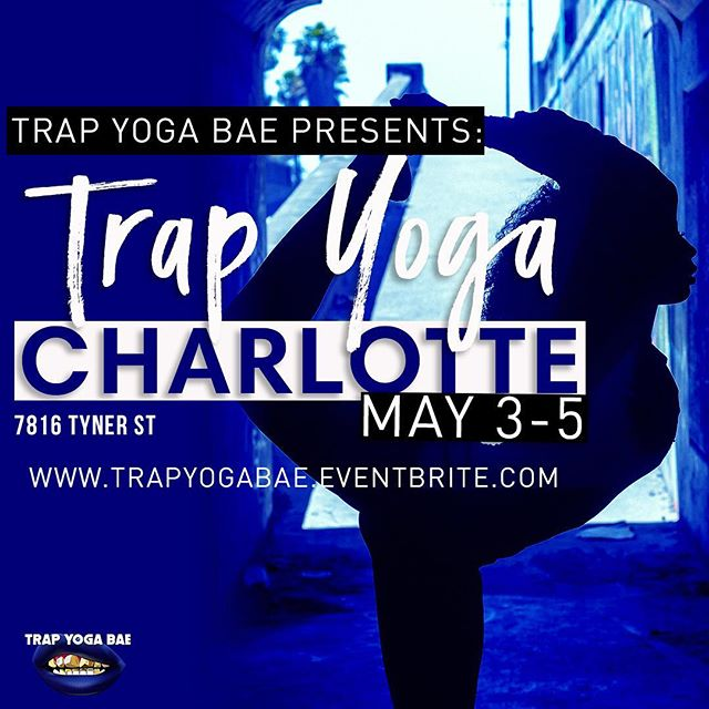 ‪Attention all Charlotte followers, next weekend #TrapYoga is going down in your city. Tickets are selling out fast! Grab your leggings, a towel, & get ready to woosah & twerk sumthin to some 2 Chainz. (This is not an ad this is nepotism my sister @nia_rasoolgroup is one of the host). ‬#BlackYogi #BlackGirlsYoga #NorthCarolinaYoga #CharlotteYoga #CharlotteEvents