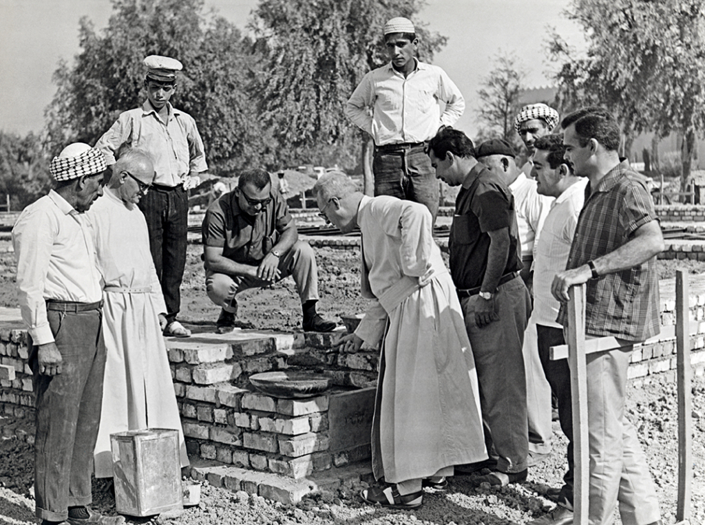 Paul A. Nash  Laying of the foundation stone of the Oriental Institute of the Al-Hikma University, Baghdad, 1967. Gulbenkian Archives