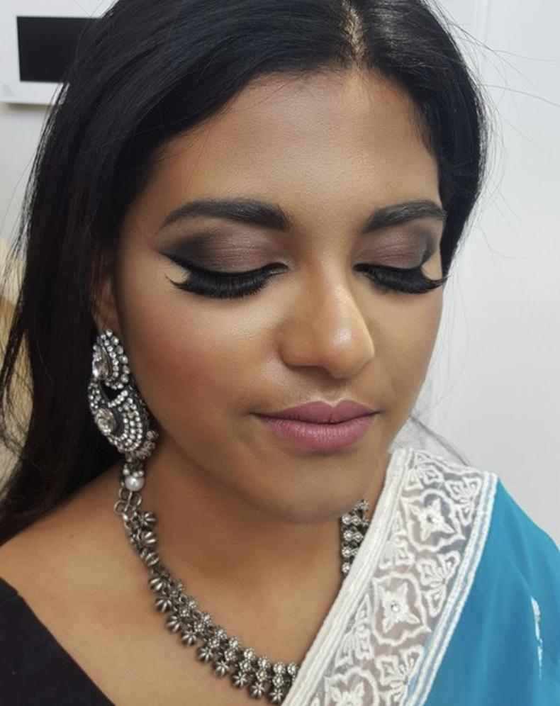 Indian style wedding makeup by Katie Saarikko.