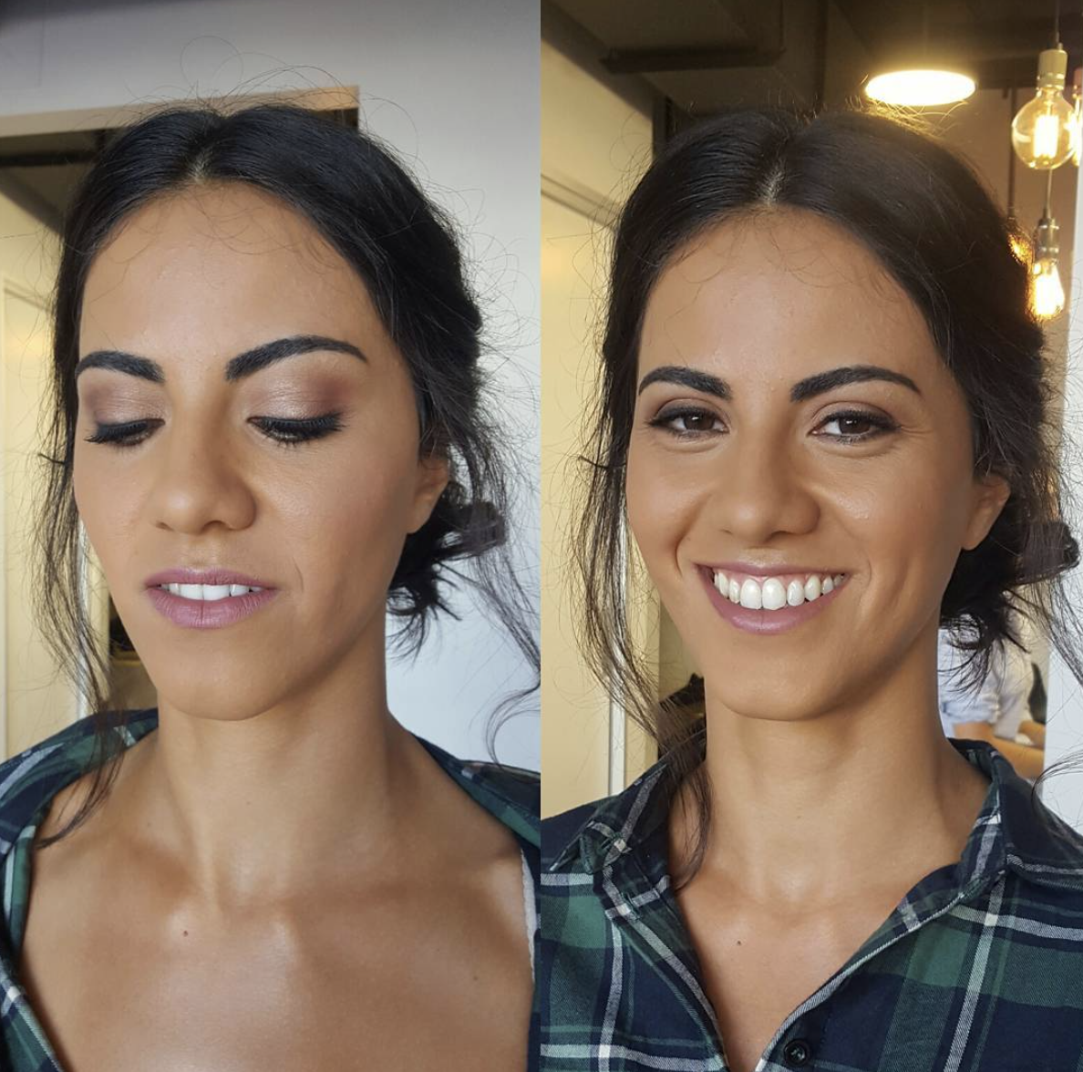 Soft mauve eyeshadow for wedding guest makeup  by Katie Saarikko.