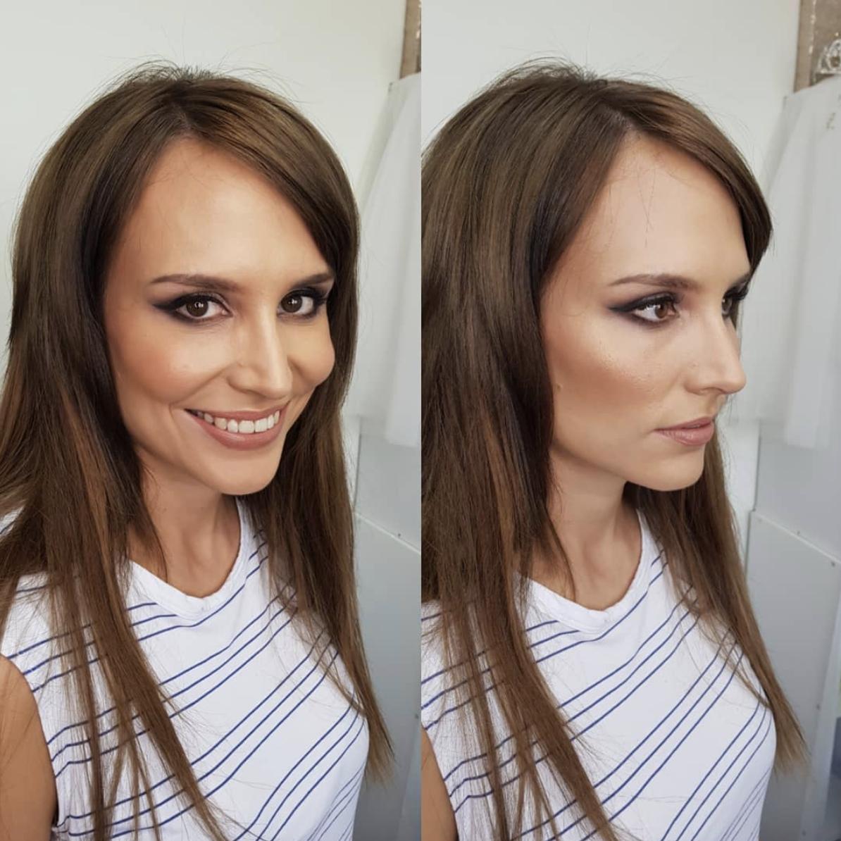 Smokey eye and nude lips by Canberra makeup artist Katie Saarikko.