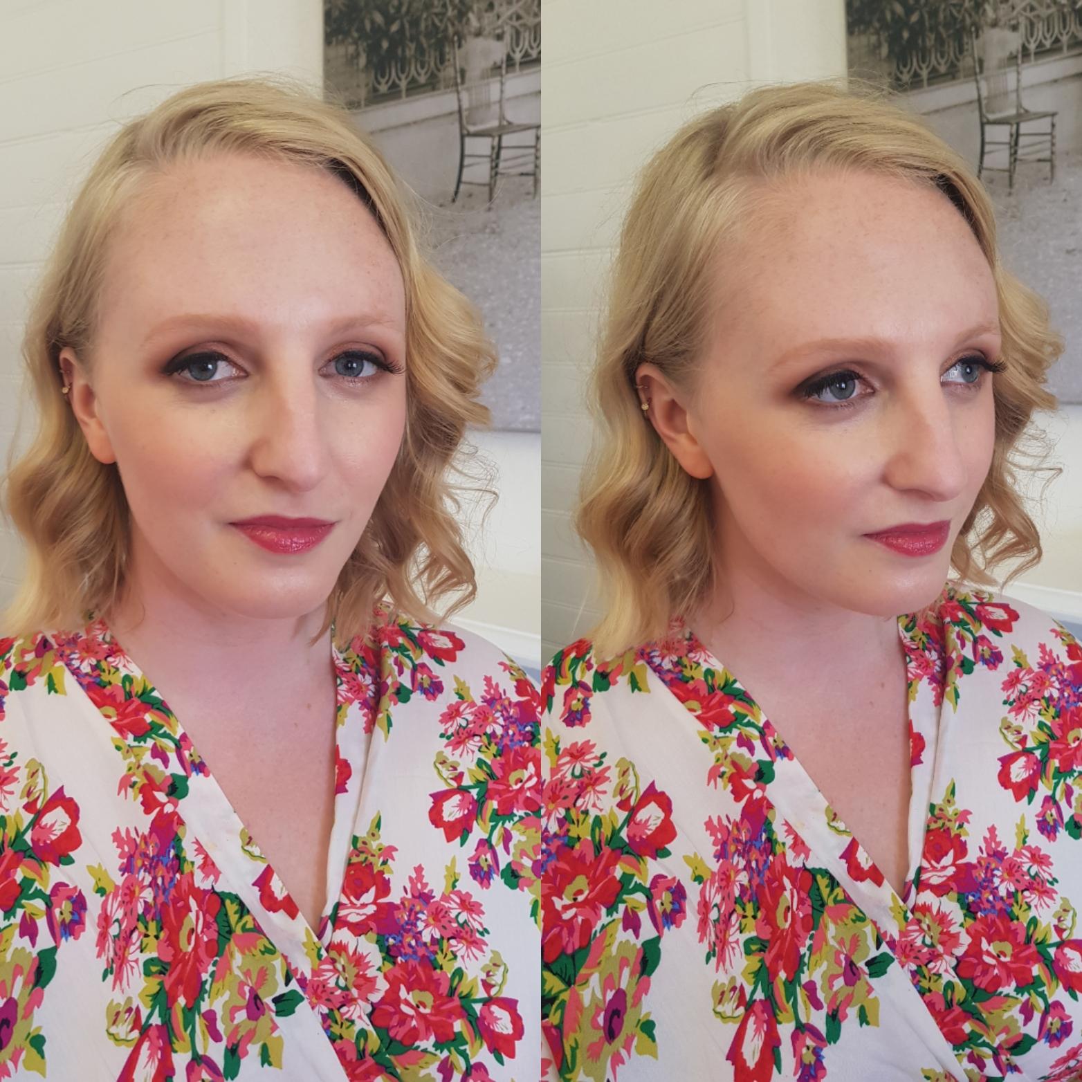 Bridesmaid makeup at Fiona's wedding.