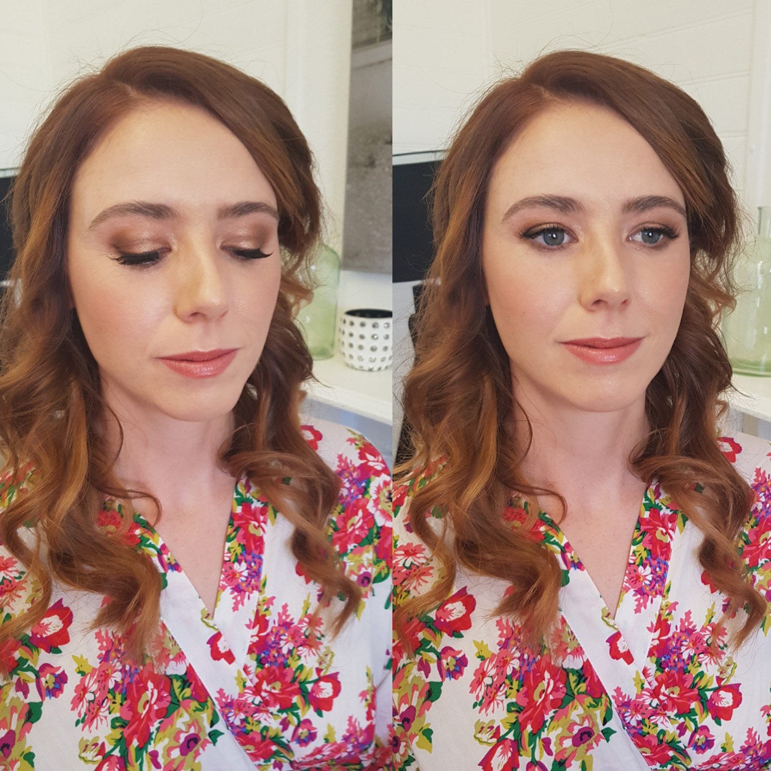 Fiona's wedding makeup
