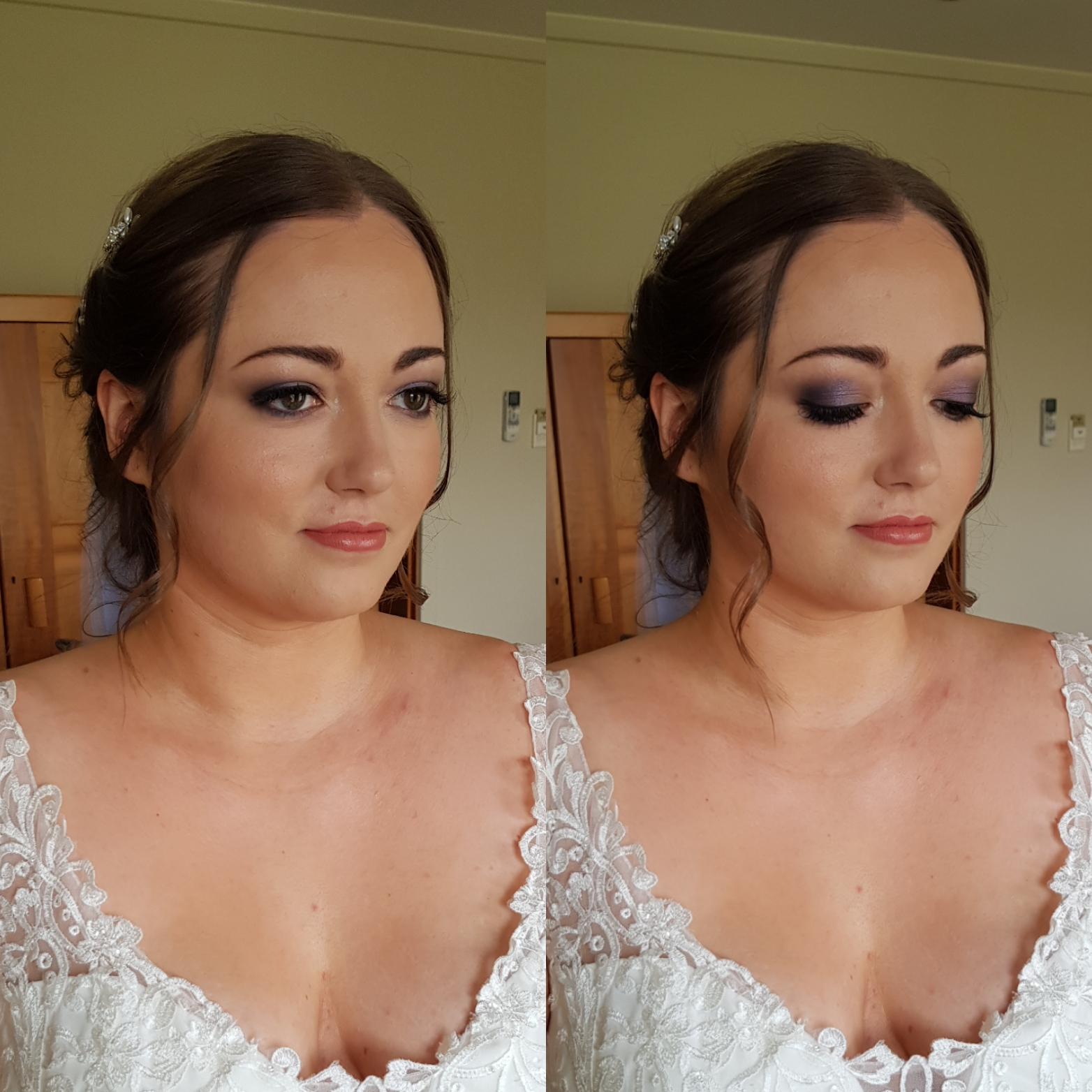 Skye's wedding makeup at University House.