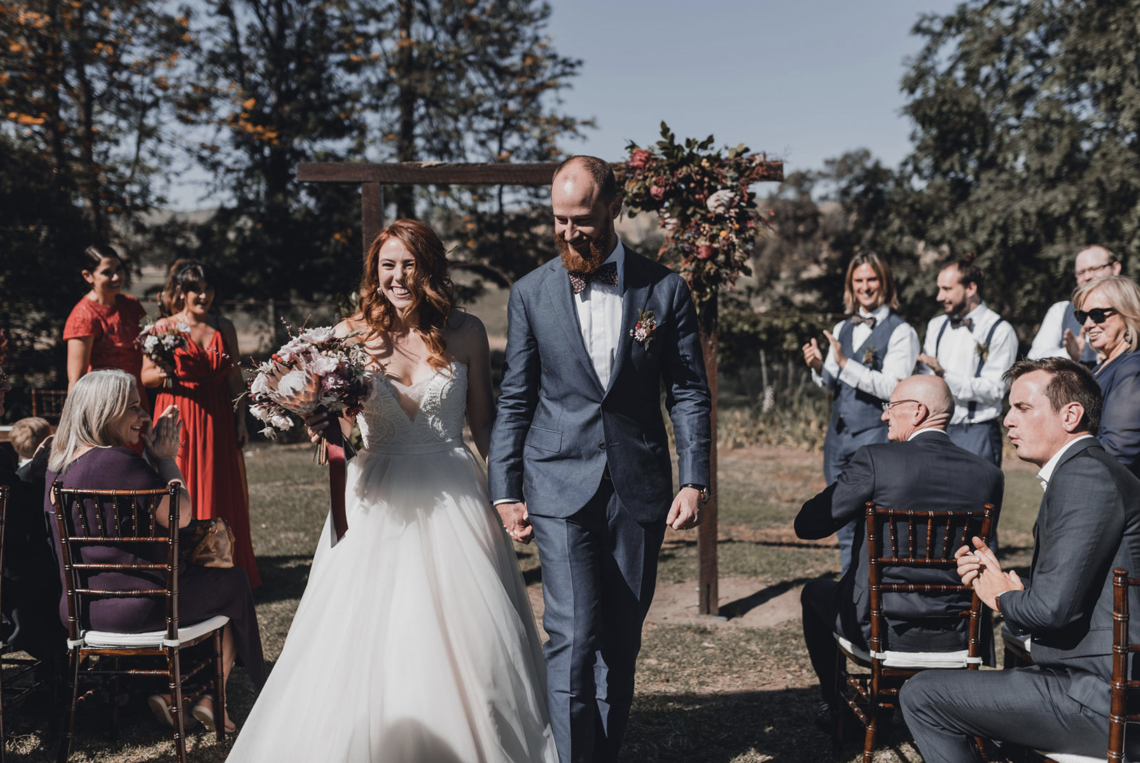 Fiona and Phil's wedding at Kimo Estate