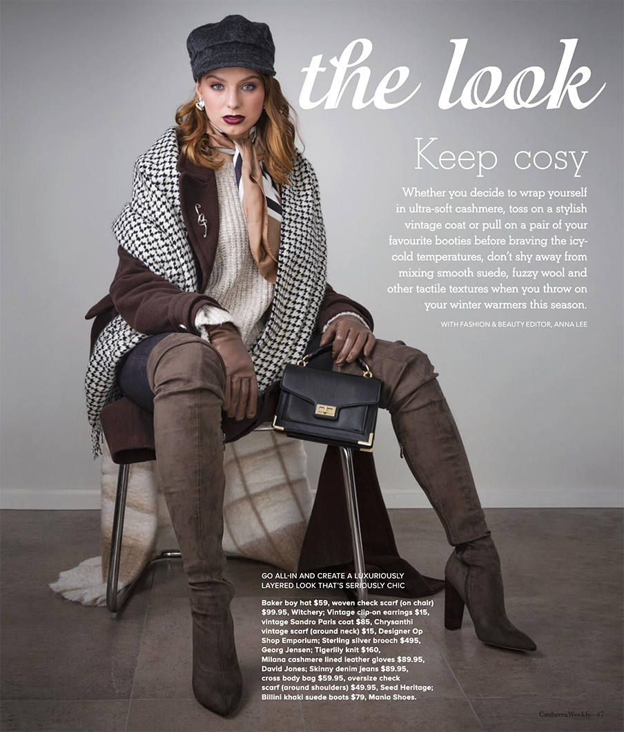 Canberra Weekly Winter Editorial - June 2018 - Makeup by Katie Saarikko