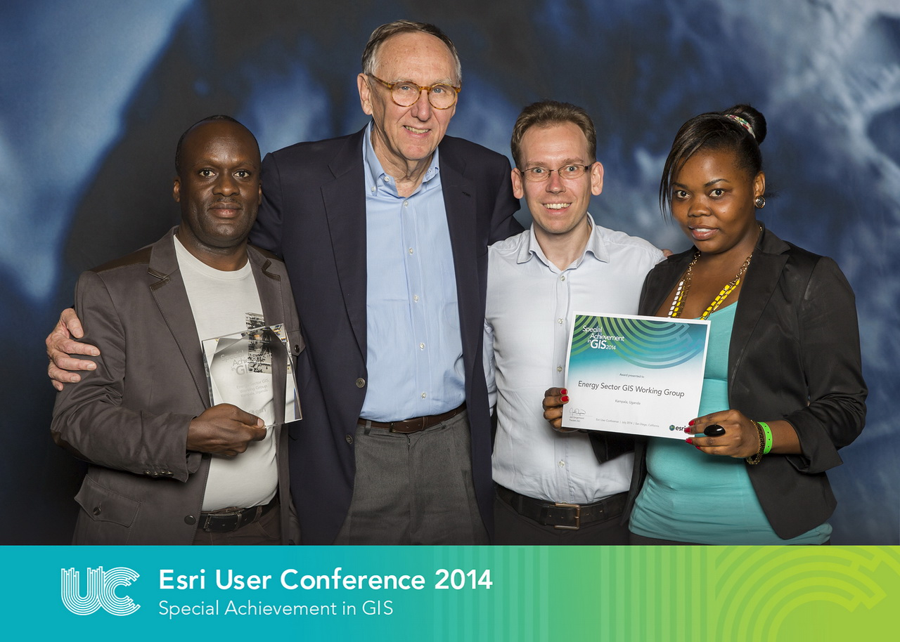 Receiving the Special Achievement in GIS (SAG) Award from Esri 2014