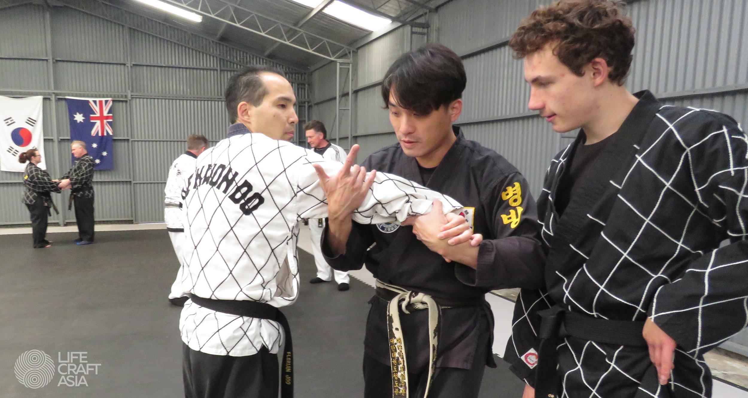 (Lfeft) Master Florian Joo, (Middle) Master Roy Ng, (Right) Jack Wild