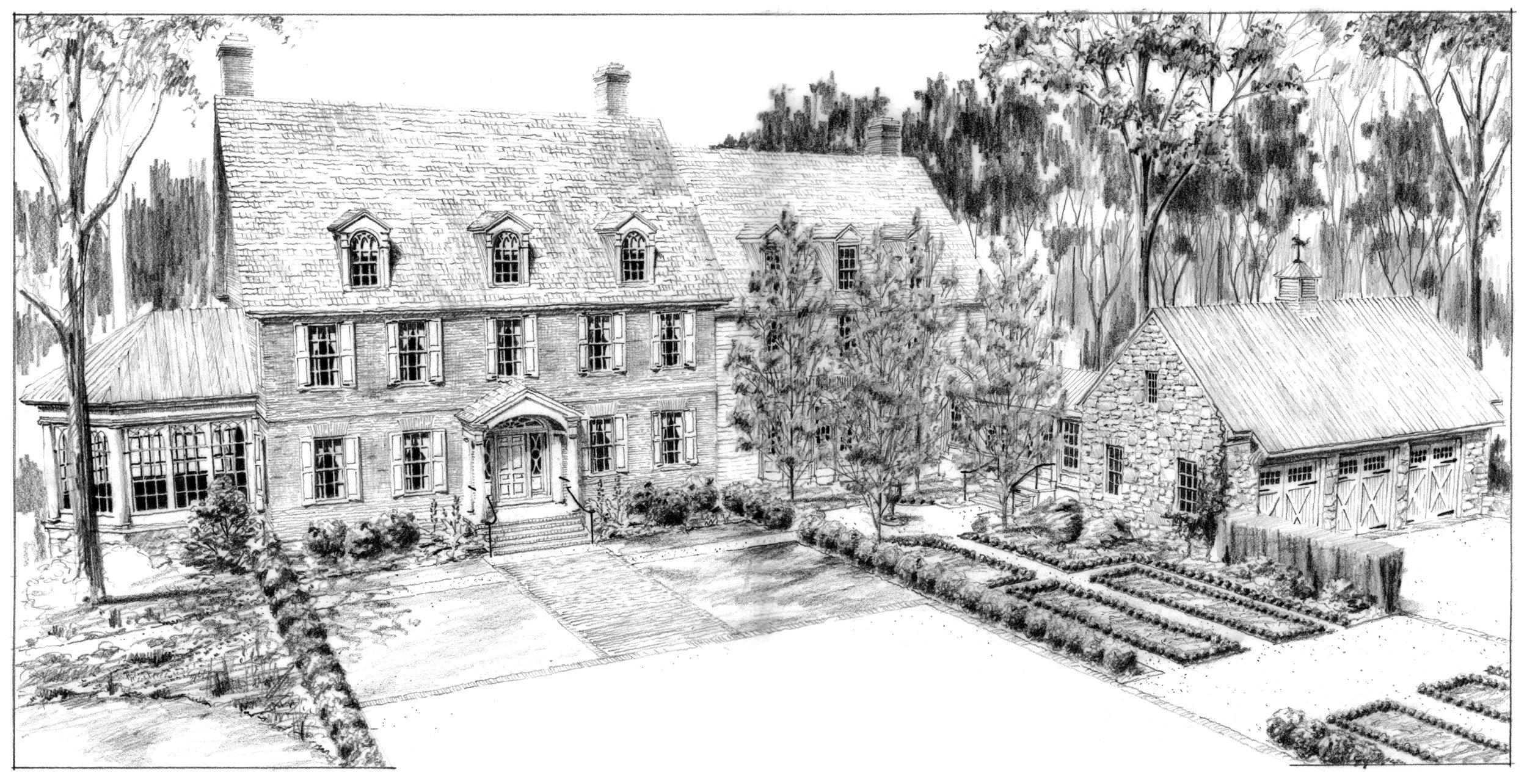 Drawing by Devin S. Kimmel, AIA, ASLA