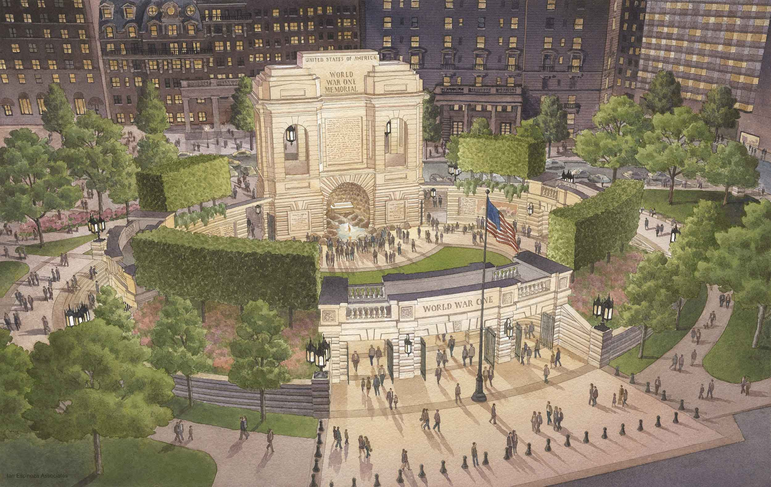 Design by Kimmel Studio Architects Shortlisted as Finalist for National War Memorial