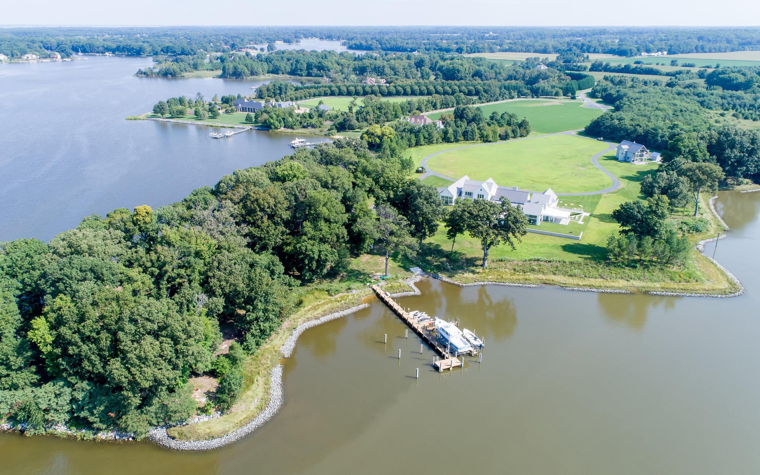 Kimmel Studio Farmhouse - aerial from Chesapeake Bay Watershed.jpg