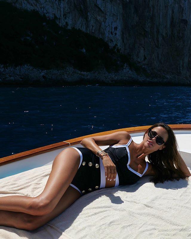 Captain on board ⚓️ wearing @balmain x @luisaviaroma