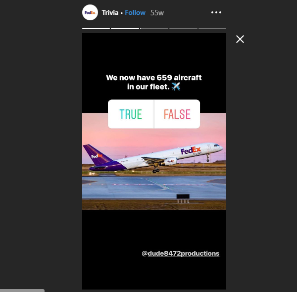 FedEx B2B Instagram Stories