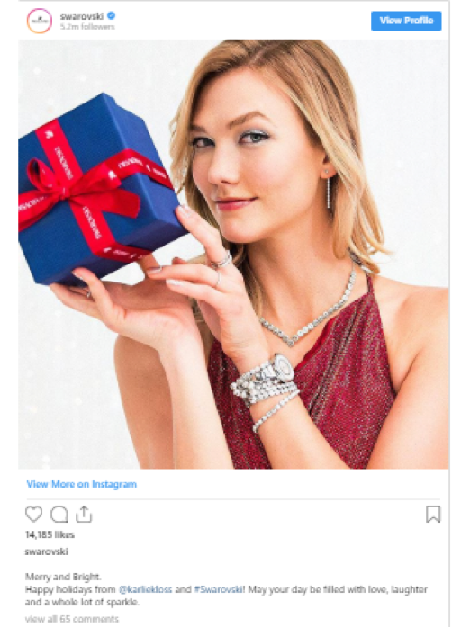 Swarovski launch campaign Instagram