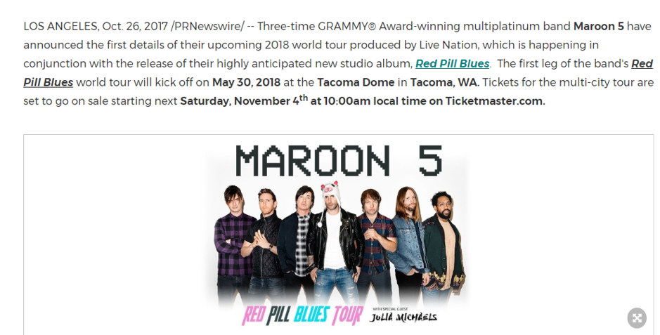 maroon five launch