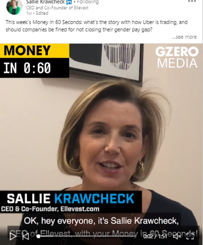 Sallie Krawcheck video linkedIn