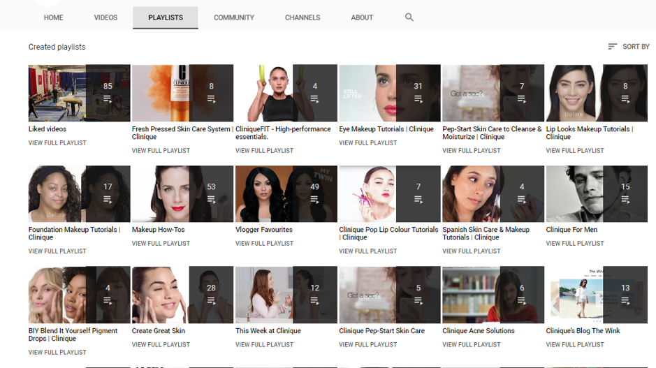 clinique brand on youtube