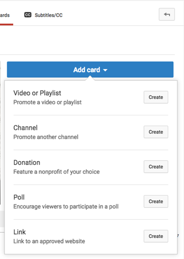 how to add a youtube endcard