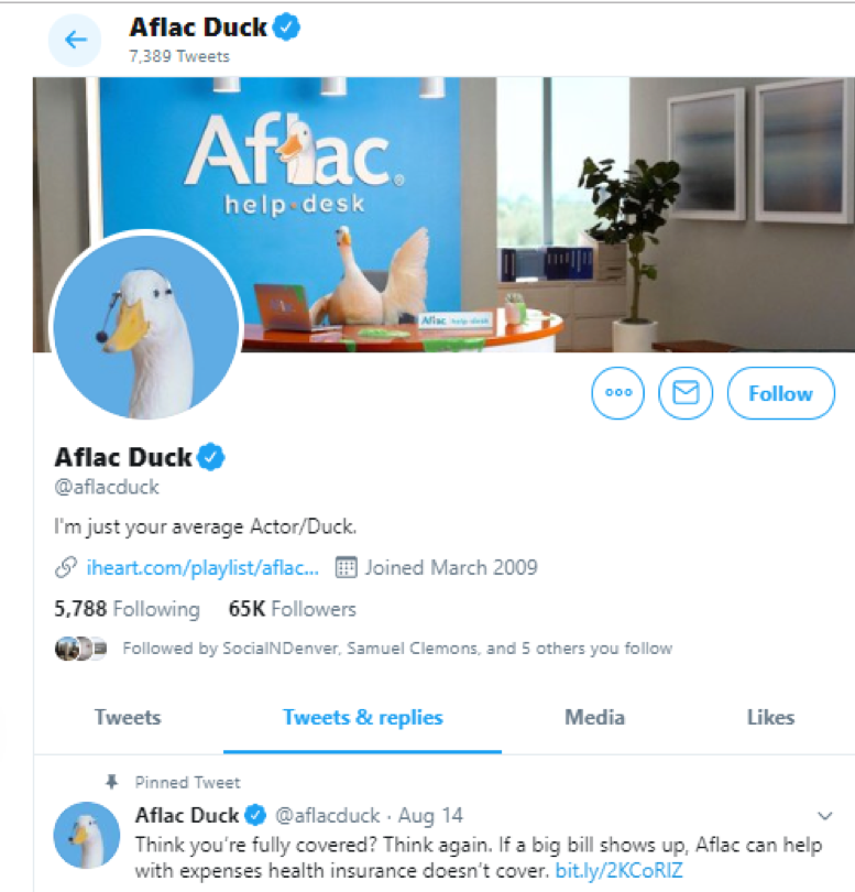 storytelling with the Aflac duck