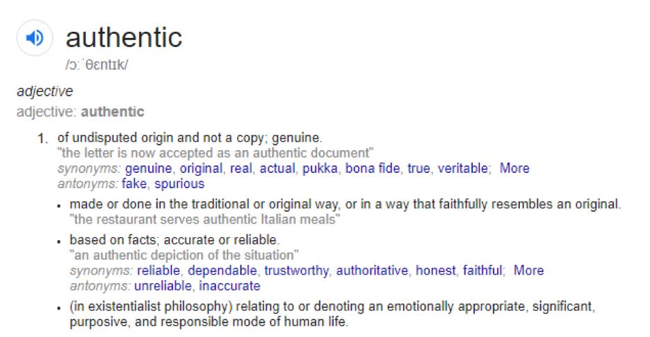 authentic definition