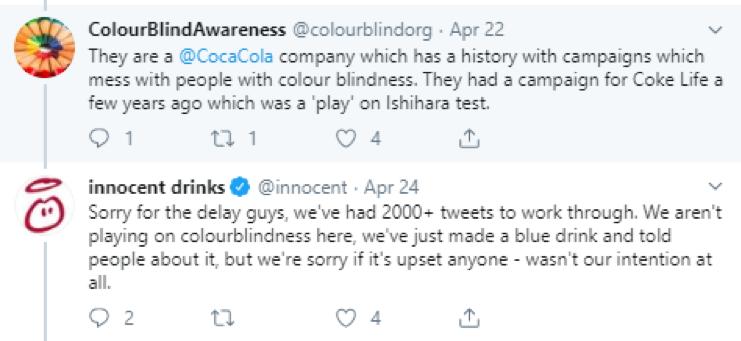 innocent replying on twitter