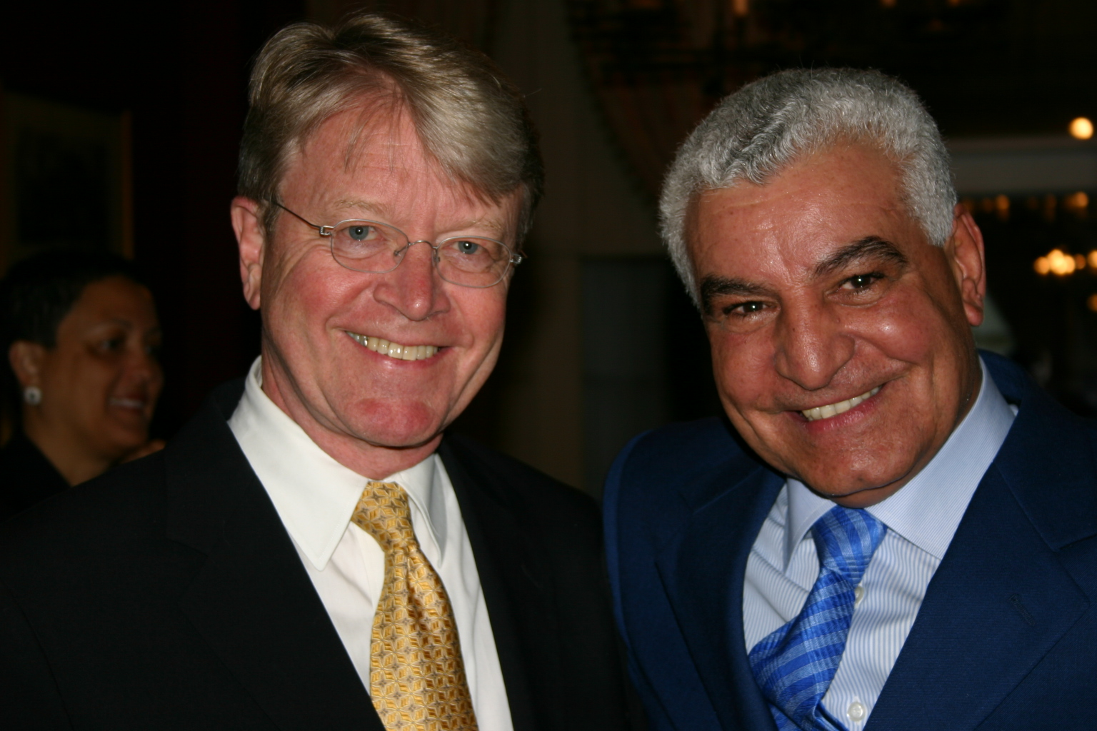 With the former Egyptian Minister of State for Antiquities Affairs, Zahi Hawass